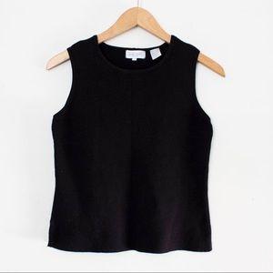 Vintage 90's Black Sleeveless Plain Tank Top